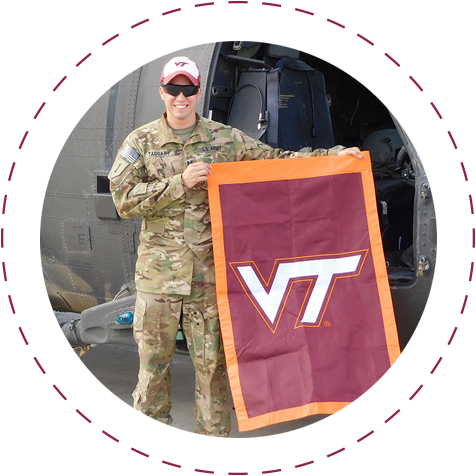athletics flag with VT on it