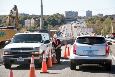Driver safety simulation on a highway in northern Virginia