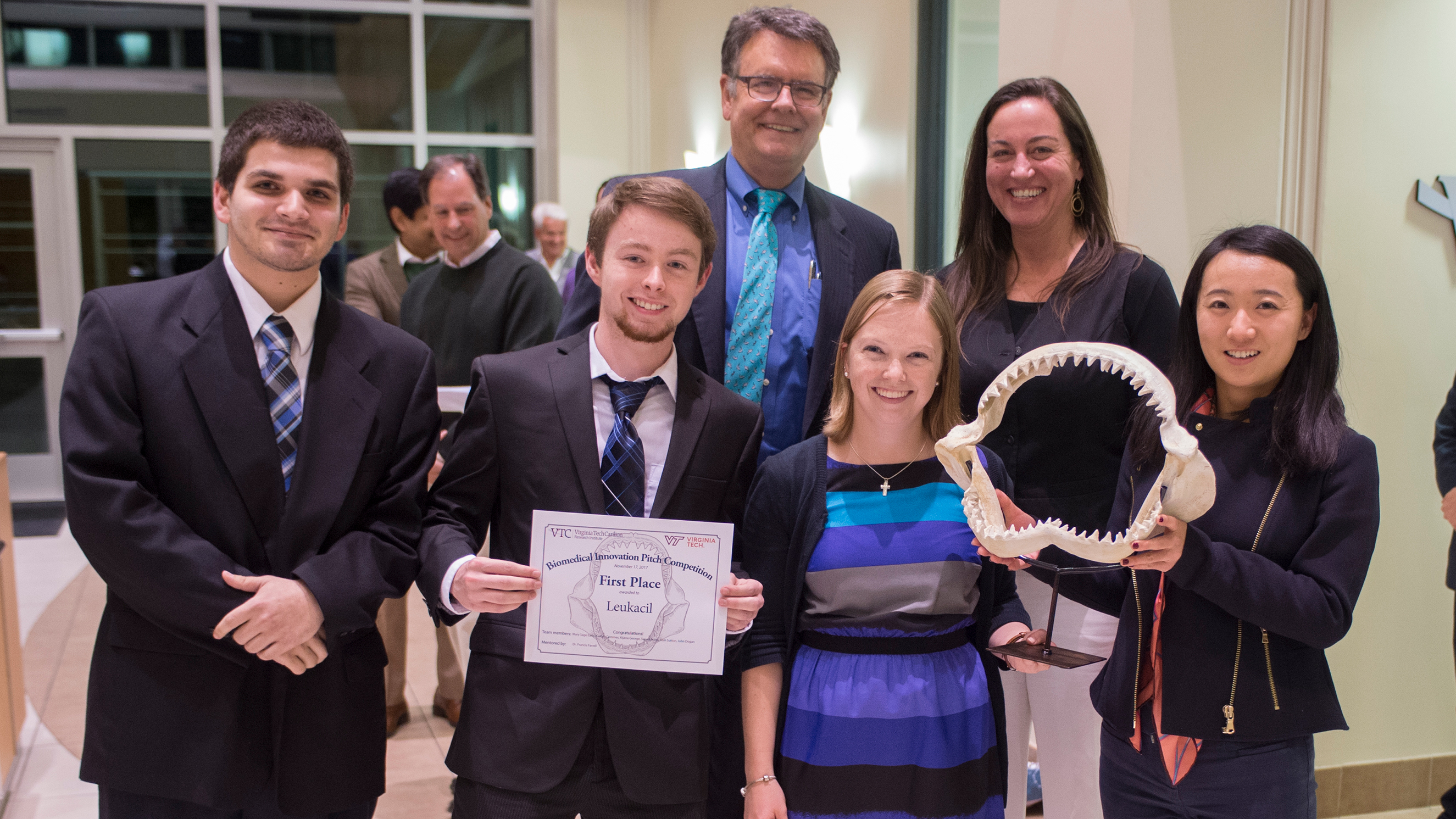 "Winners of VTCRI ""shark tank"" competition"