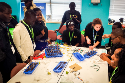Students from DC area and Ghana visit Thinkabit Lab