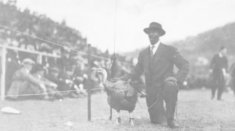 Floyd Meade with the VPI Mascot in 1921