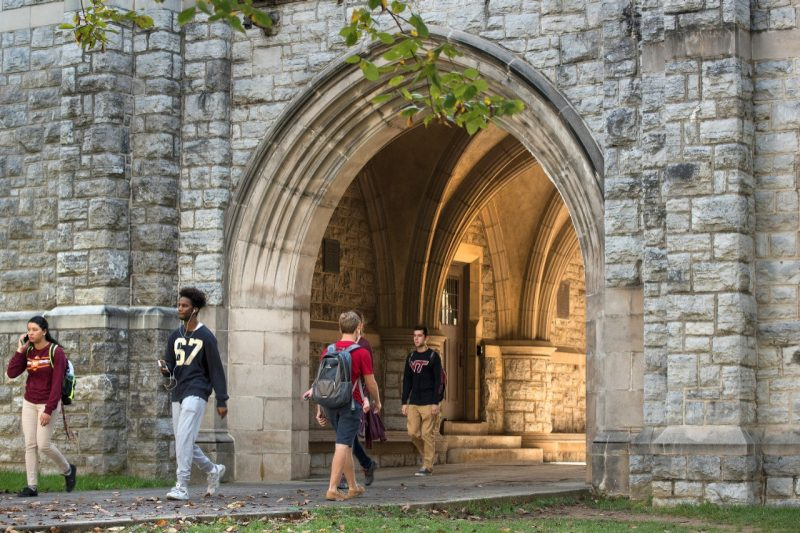 The Eggleston Arch on campus