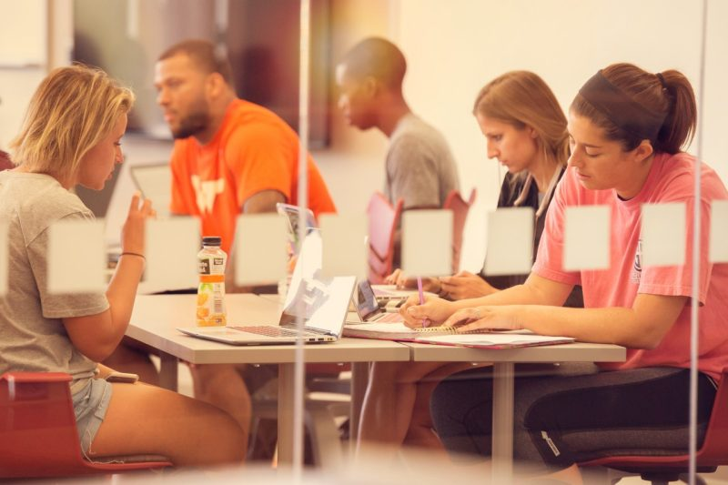 Students work during summer session