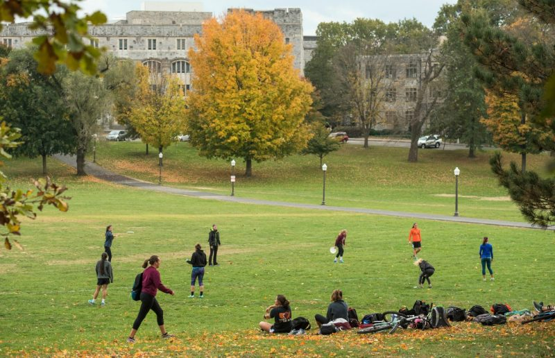 Fall scenic shot of the Drillfield